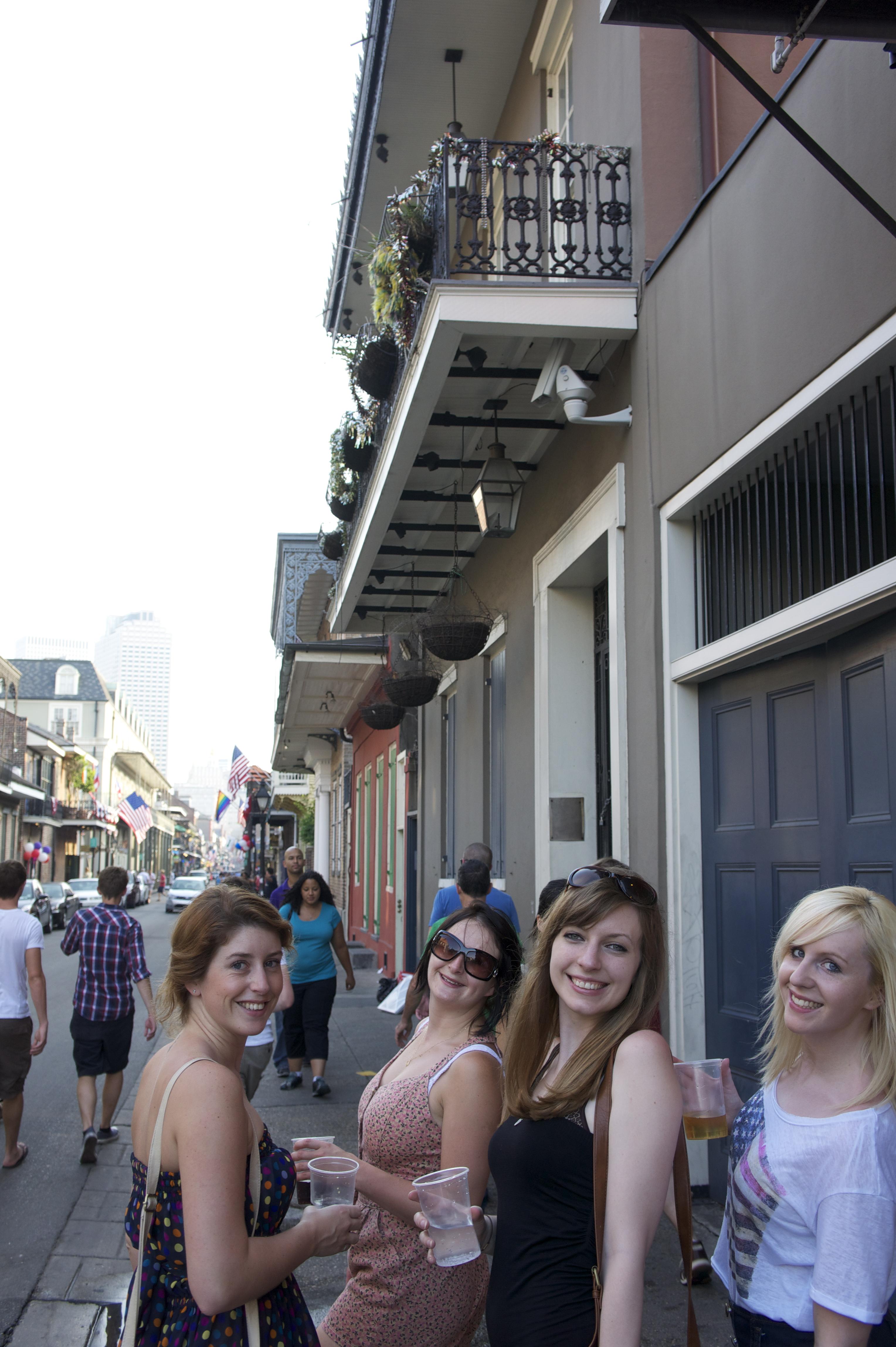 Boobs on bourbon street
