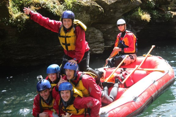 Rafting at River Valley - not in the river.